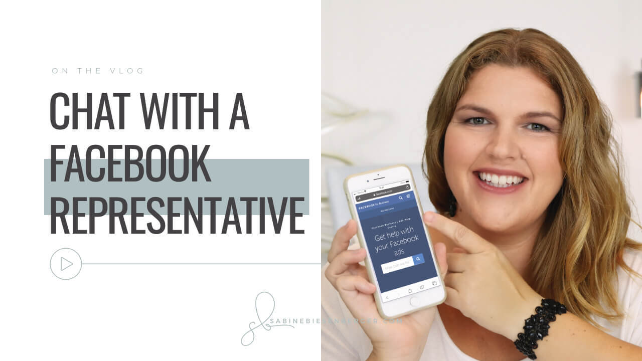 Chat with a Facebook representative (Video TN)