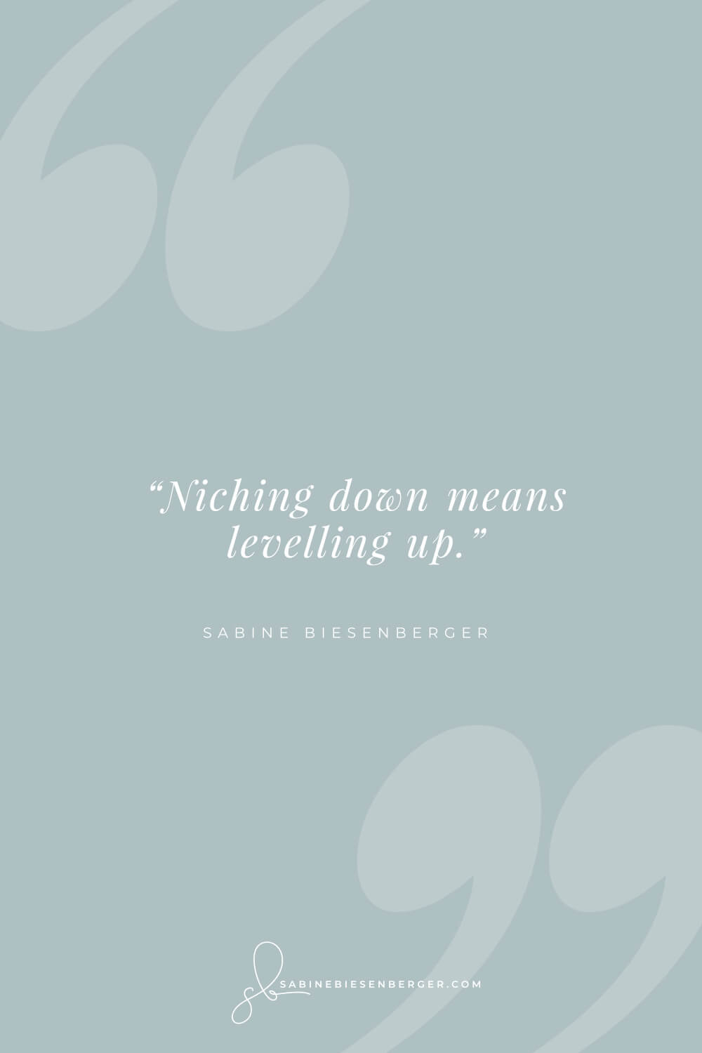 Niche market and mass market - Pin Quote 4 - sabinebiesenberger.com
