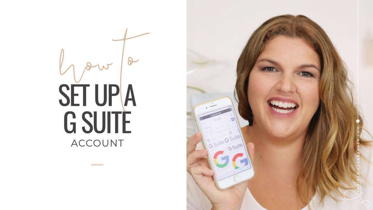 Set Up G Suite Account (Video TN)